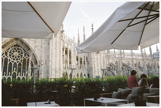 rooftop bar la rinascente milano italy world martini